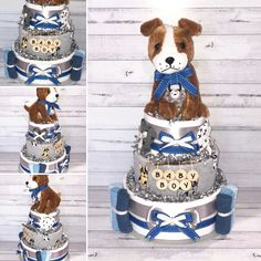 Boys Puppy Dog Nappy Cake Cake Centerpieces, Nappy Cakes, New Baby Boys, Boy Names, Dogs And Puppies, Cute Babies, New Baby Products, Plush, Children