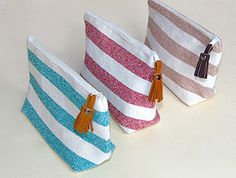 Our handmade cosmetic bags are durable and stylish.