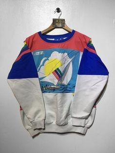 Adidas Sailing Crew Sweatshirt Medium (Fits Oversized)