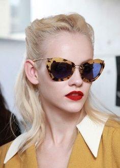 Miu Miu Cat-eye Sunglasses S/S 2012 #miumiuglasses
