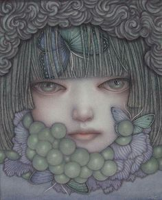 'Malicious Fruits' from Atsuko Goto for her debut U.S. solo show. 'The Silence of Idols' opens this coming Sat., March 4 in our project room.  Inspired by Japanese Shinto and the belief that nature is animated by divinity and sacred spirits harbored in every living and inanimate thing, Goto creates imagery that conveys this feeling of profuse life force and intangible mystery, offset by a darker suggestion of mourning and lament.