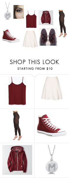 """""""Untitled #98"""" by villarrealmaya ❤ liked on Polyvore featuring Zara, Falke, Converse, American Eagle Outfitters and BERRICLE"""