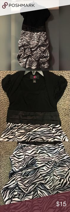 Party girl dress Super cute girl dress with zebra print. Perfect for parties or special events, in excellent condition Dresses Formal