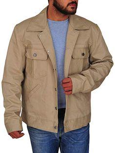 7425bfde9a1 TrendHoop Men Gorgeous Classics Utility Beige Cotton Outerwear Jacket at Amazon  Men s Clothing store