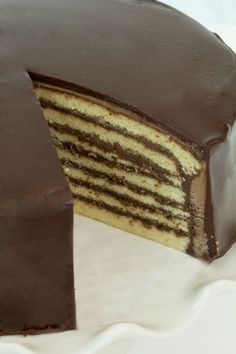 Seven Layer Cake. I won a cooking contest in my high school German class with a recipe almost exactly like this... I never thought I would find the recipe again to make it :)