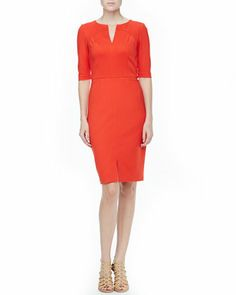 Danton Fitted Ponte Dress by Trina Turk at Neiman Marcus.