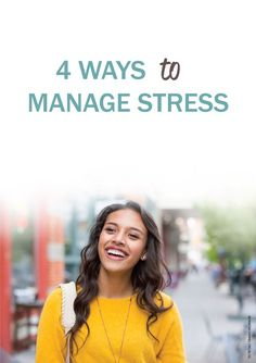 4 positive ways to take charge of stress.