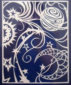 Celestial Paper Cut from Craftster.org