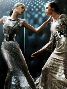 Coco Rocha and Vlada Roslyakova by Steven Klein for Dolce & Gabbana
