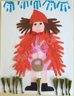 Mauriquices: As luvas do capuchinho! Red Riding Hood, Little Red, Crafts For Kids, Preschool, Christmas Ornaments, Holiday Decor, Artist, Kindergarten Jobs, Fathers Day