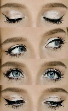 So beautiful! Love how the pearl eyeshadow makes her eyes look super bright