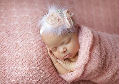 Light pink chiffon headband, baby headband, adult headband, infant headband, child headband. $12.99, via Etsy.