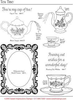 Tea graphics sheet- patrones - Mary. 2 - Picasa Webalbumok