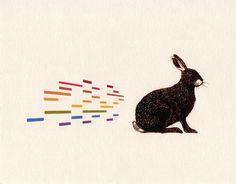 The Irish hare print | hardtofind.