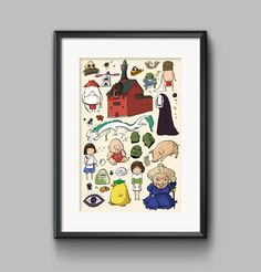 Studio Ghibli Spirited Away Characters by PenelopeLovePrints