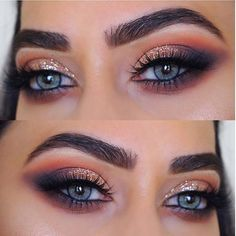 Sparkly Smokey Eye Makeup Idea for Blue Eyes Loading. Sparkly Smokey Eye Makeup Idea for Blue Eyes 80s Eye Makeup, Hooded Eye Makeup, Blue Eye Makeup, Eye Makeup Tips, Smokey Eye Makeup, Makeup Inspo, Makeup Ideas, Hooded Eyes, Nail Ideas