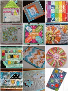 mosaic mug rug by courtiepie, via Flickr