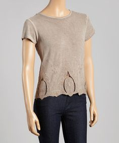 Look what I found on #zulily! Moonrock Oil Dye Embroidered Hem Tee by Dantelle #zulilyfinds