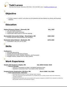 resume objective therapy and resume on