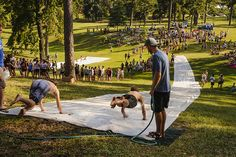 Nice form by berrycollege, via Flickr. The annual giant Slip'n Slide at Berry... let the injuries commence!