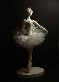 "Bjd doll ballerina ""Odette"" collection ""Ballet"" by Olga Sanina Famous Ballets, Dancing Dolls, Ballerina Doll, Barbie Gowns, Ceramic Animals, Doll Stands, Bjd Dolls, Ballet Dancers, Ball Jointed Dolls"