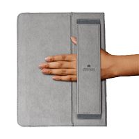 Grip Folio- soft interior with a hand strap, exterior tactical grip