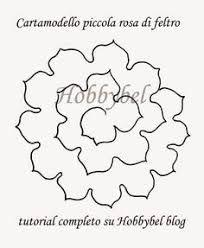 Resultado de imagen para felt rose templates