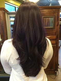 Softly Layered Cut. Red Violet Hair. Beauty By Allison. Fort Collins Hair. Salon Salon