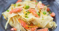Fettuccine cu somon afumat - www. Skinny Recipes, Healthy Recipes, Health Eating, Foods To Eat, Vegan Foods, Fish And Seafood, Fish Recipes, Pasta Salad, Broccoli
