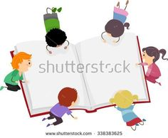 boy reading a big book black white book clipart black and