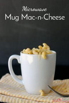 Mug mac and cheese labeled