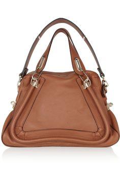 Neutral leather shoulder #bag| Chloé