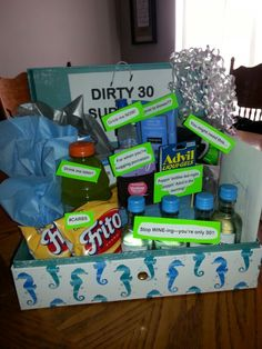 Dirty 30th birthday survival kit!!