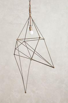 Tall Iron Web Pendant Lamp $398.00