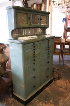 Early 1900's Dental Cabinet... hmmm.... would make interesting bead/jewelry supply storage.
