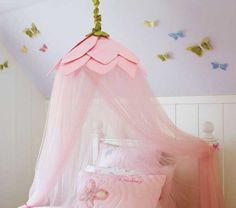 Superieur Pottery Barn Kids Rose Petal Canopy New Flower Pink Fairy Princess Girls  Room