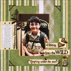 scrapbook layouts outdoor | Wilderness Adventure Scrapbook Layout from Paper Wishes | FaveCrafts ...