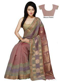 Dusty Mauve Silk Blend Saree