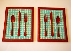 This is a cute idea for the kitchen! and its a dollar store project!