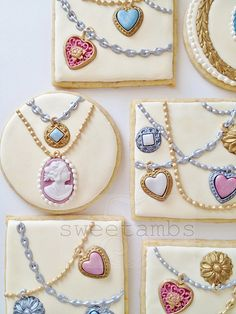 Great idea for Sweet 16th Birthday Celebration of Jewelry Cookies by Sweet Ambs.