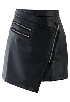 Check out this cute Chicwish black faux leather zipper detail skirt $40, get it here: http://rstyle.me/~2fHti