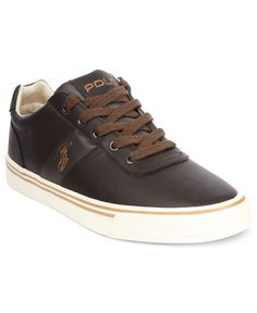 Polo Ralph Lauren Shoes, Hanford Leather Sneakers - Mens Sneakers & Athletic - Macy's
