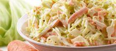 Ensalada de col americana muy fácil de hacer - Receta de Ensalada Americana paso a paso - Salsas para ensaladas - Ensalada de cangrejo y gambas con repollo