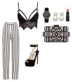 """""""My First Polyvore Outfit"""" by directionagus ❤ liked on Polyvore featuring Chanel, Judith Jack, Larsson & Jennings, Barry M, Nicholas, Club L and Prada"""