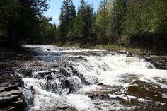 3) Ocqueoc Falls, near Millersburg, Bismarck Township  Sweet places in MI to visit