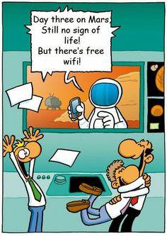 Free wifi in Mars! Cool!