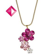 Aliexpress.com : Buy Neoglory Jewelry Fashion Crystal Flowers Necklace With Swarovski Element Crystal Pendants 14k gold plated Christmas Gift from Reliable necklace suppliers on NEOGLORY JEWELRY