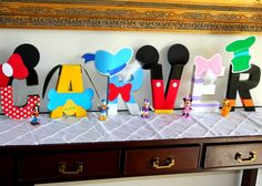 8 Mickey Mouse Name Letters