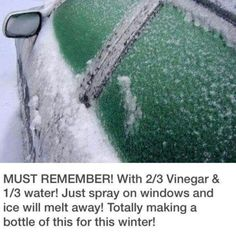 Windshield ice melt spray