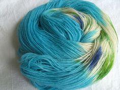 ♥ Sockenwolle 100g ♥ Schurwolle 75% ♥ Handgefärbt ♥ Made by Aleinung ♥ (090)